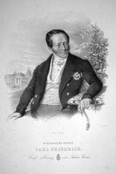 Carl Friedrich von Sachsen-Weimar, Lithographie von Johann Baptist Clarot, s.a. (Quelle: Wikimedia)