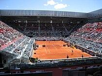 Caroline Wozniacki and Dinara Safina at the 2009 Mutua Madrileña Madrid Open.jpg