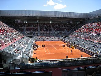 Caja Mágica - Interior of the main court during the 2009 Mutua Madrileña Madrid Open