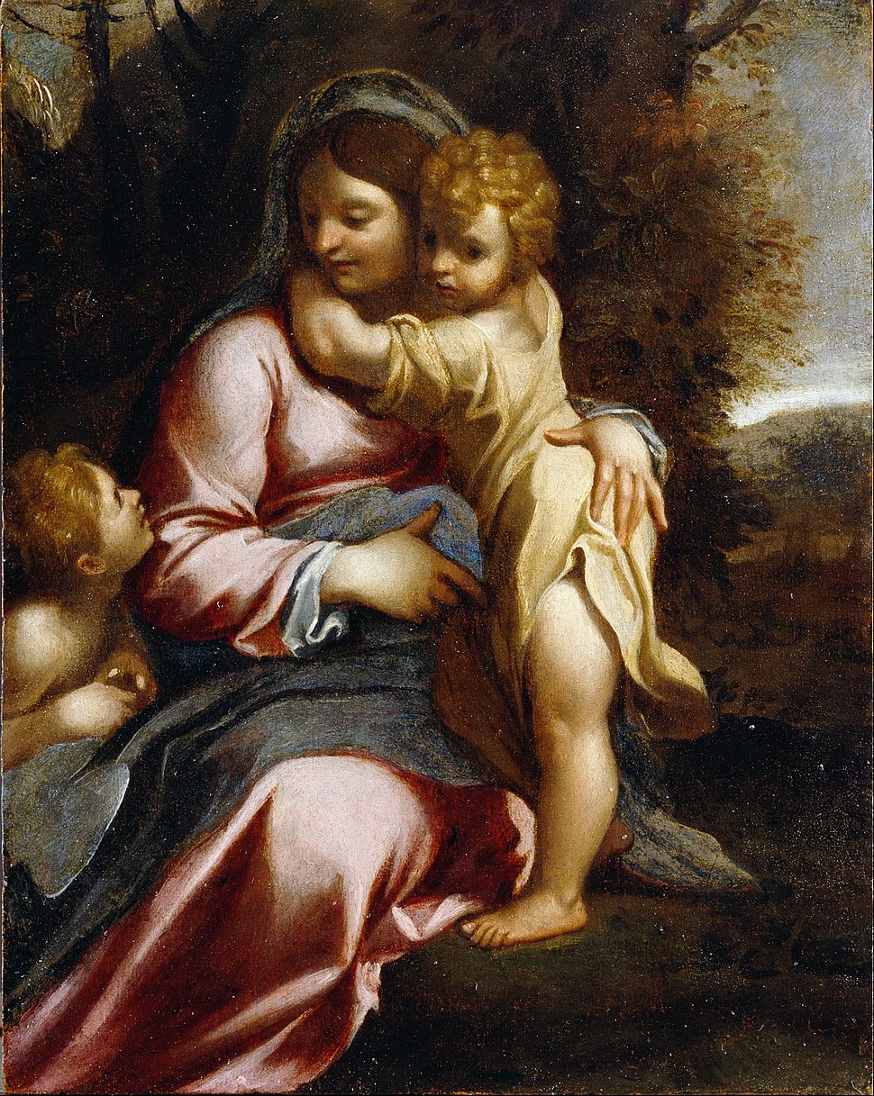 Carracci, Annibale - Madonna and Child with St John - Google Art Project
