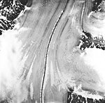 Casement Glacier, valley glacier with medial moraine, August 22, 1965 (GLACIERS 5286).jpg