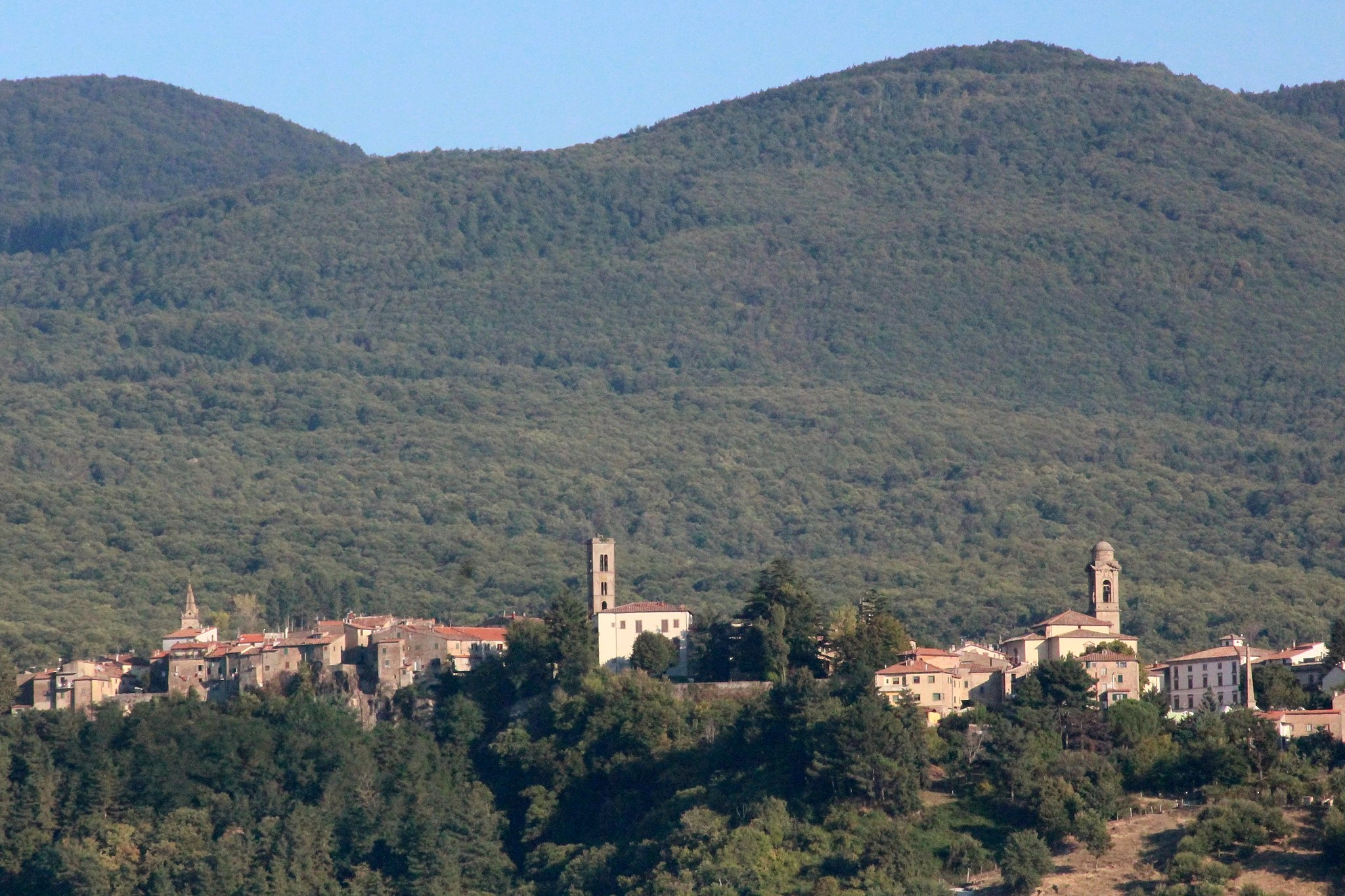 Panorama of Castel del Piano, Province of Grosseto, Tuscany