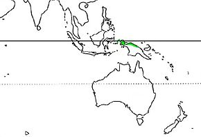 Description de l'image  Casuarius unappendiculatus Distribution.jpg.
