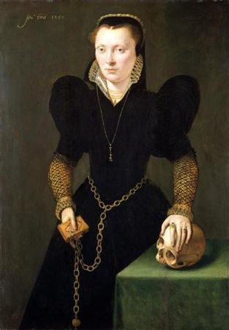 Yorick - Portrait of Katheryn of Berain by Adrian van Cronenburgh c.1560. Shakespeare's 1601 poem The Phoenix and the Turtle was published in a collection dedicated to Katheryn's son, John Salusbury.