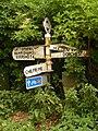 Cattistock, signpost opposite St. Helen's Lane - geograph.org.uk - 1382470.jpg