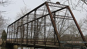National Register of Historic Places listings in Jackson County, Indiana - Image: Cavanaugh Bridge southwestern angle