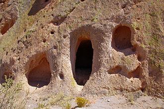 Tsankawi - Cavate Entrances, Tsankawi