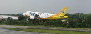 Tagbilaran Airport - Image: Cebu Pacific Landing