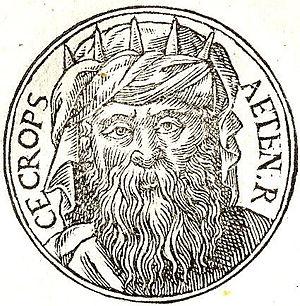 """Cecrops I - Cecrops I from """"Promptuarii Iconum Insigniorum """""""