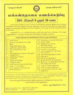 Demographics of Tamil Nadu