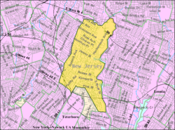 Census Bureau map of Hackensack, New Jersey