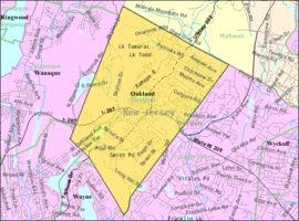 Census Bureau map of Oakland, New Jersey.png