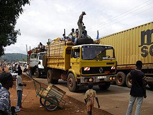 Central African Republic - Trucks in Bangui