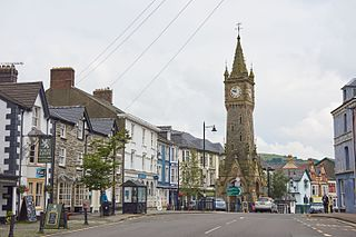 Machynlleth town in Powys, Wales