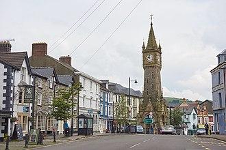 Machynlleth - Image: Central Machynlleth, June 2016