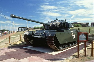 Tanks in the Cold War - British Centurion Mk 3 main battle tank at Eastbourne Redoubt
