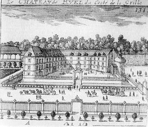 Château de Rueil - View of the entrance facade