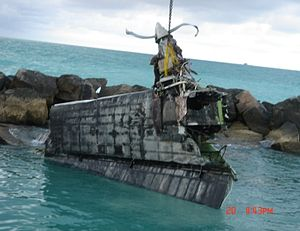 Chalk's Ocean Airways Flight 101 - Flight 101's recovered right wing.