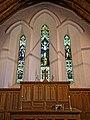Chancel window in St Mary the Virgin's Church, Aythorpe Roding, Essex, England.jpg