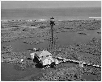 Chandeleur Island Light - Image: Chandeleur Island Light LA 1960