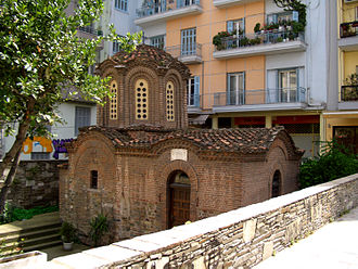 Egnatia Street, Thessaloniki - Image: Chapel of Transfiguration Salonica