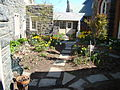 Chapel of the Most Holy Trinity (West Point, NY) courtyard in Spring.JPG