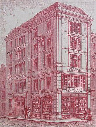 Charles Frodsham - Charles Frodsham premises at 84 Strand