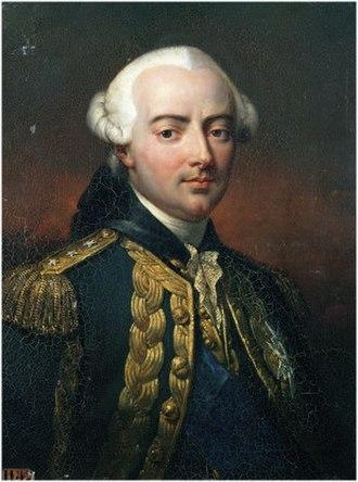 Charles Henri Hector d'Estaing - Portrait by Jean-Pierre Franque