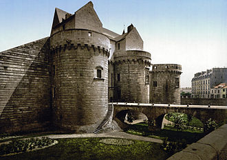 Château des ducs de Bretagne - Entrance as it appeared between 1890 and 1905