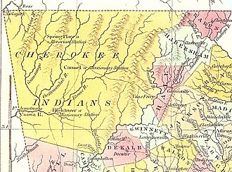 Cherokee Nation (1794–1907) - The Cherokee Nation Lands in 1830 Georgia, before the Trail of Tears