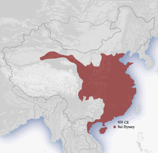 Sui dynasty Dynasty that ruled over China from 581 to 618