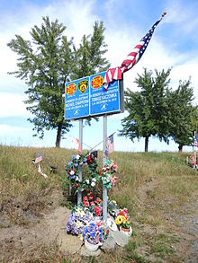 Firefighter Memorial at the site of the shooting