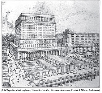 Chicago Union Station - Planned appearance of the second Union Station