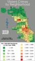 Chicago violent crime map 2006.png