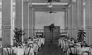 Chick Springs - Chick Springs Hotel dining room (c. 1904)