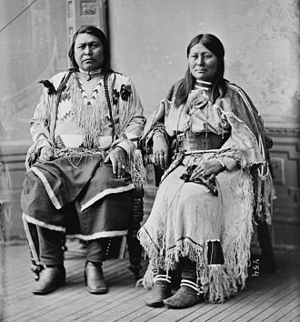 Chipeta - Chipeta and her husband Chief Ouray, wearing a shirt she beaded