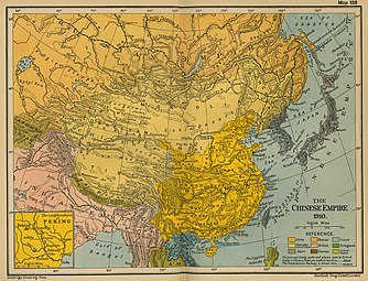 3=Karte (1910) mit dem Staatsgebiet des Japanischen Kaiserreichs (grau untermalt)