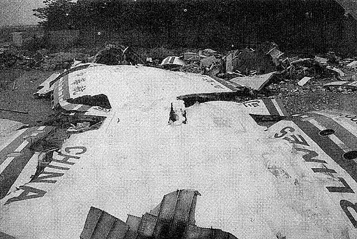 China Airlines Flight 140 wreckage 3
