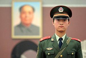 سرباز چینی در میدان تیانآنمن