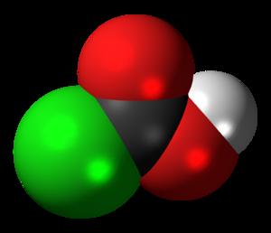 Chloroformic acid - Image: Chloroformic acid 3D spacefill