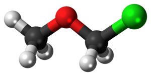 Chloromethyl methyl ether - Image: Chloromethyl methyl ether 3D ball