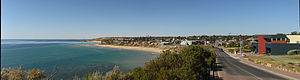 Christies Beach, South Australia - A panorama of Christies Beach (seen from the south)