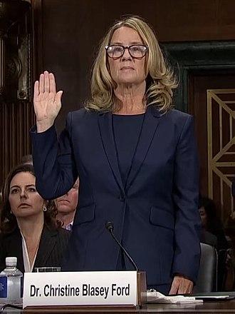 Christine Blasey Ford - Ford being sworn in