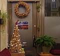 Christmas tree and wreath made out of corks.jpg