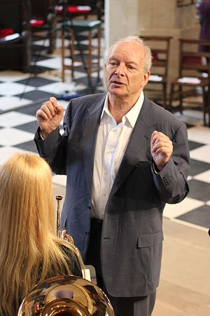 Christopher Hogwood - Hogwood leading rehearsals for his final Gresham College lecture in 2014