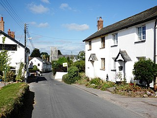Whimple Human settlement in England