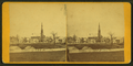 Church and houses, Waterville, Maine, by C. G. Carleton.png