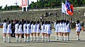 Chutung Senior High School Guards Standing on Hukou Camp Ground before Performance 20111105 (cropped).JPG