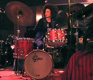 Cindy Blackman Santana - Cindy Blackman playing at the Iridium on December 9, 2007.