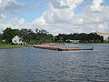City Park NOLA 4 July 2010 Dock swamped Gondola.JPG